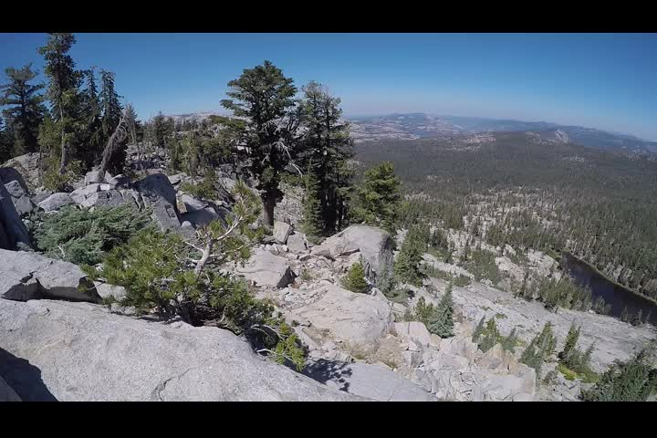 1107 GoPro panorama video looking north over Phipps Creek from the western ridge of Phipps Peak