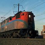 Amtrak GG1s south bound at Elizabeth NJ