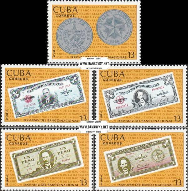 Známky Kuba 1975 Kubánske peniaze