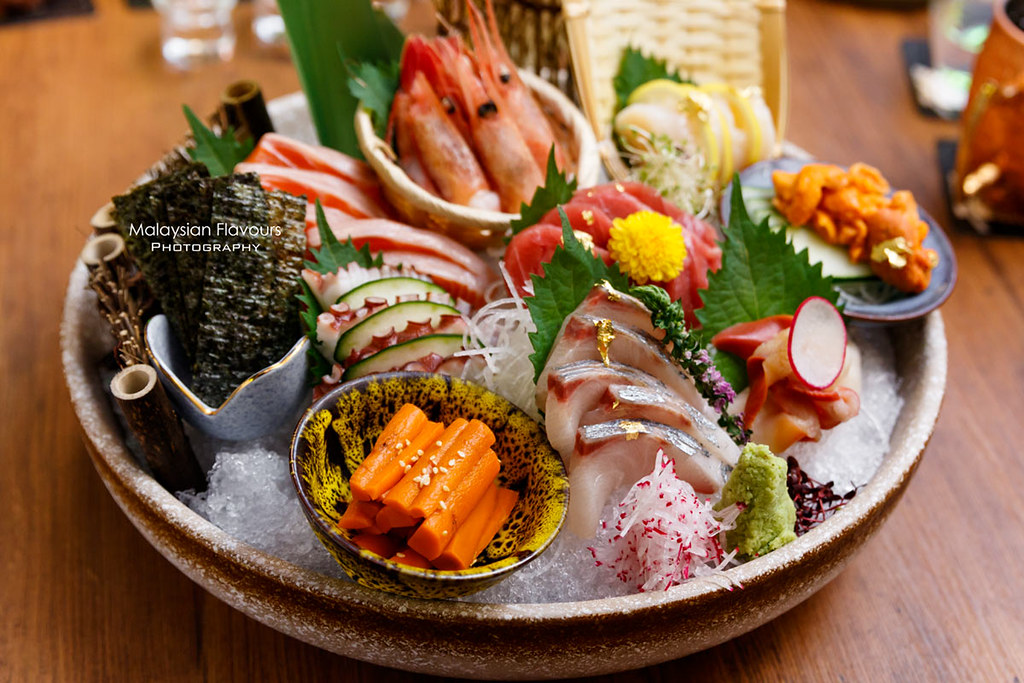 assorted shashimi platter