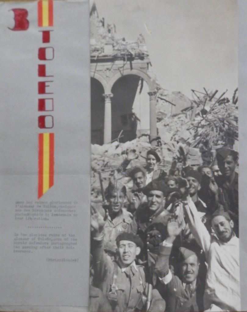 Toledo el 27 septiembre de 1936 tras la entrada de las tropas franquistas. Fotografía de Claudek, pseudónimo de la condesa Claude-Marguerite de Kinnoull. Museo de los Mártires Claretianos de Barbastro.