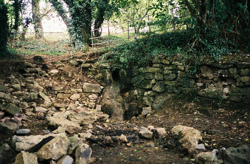The source of Pigeonhouse Stream, down to a trickle