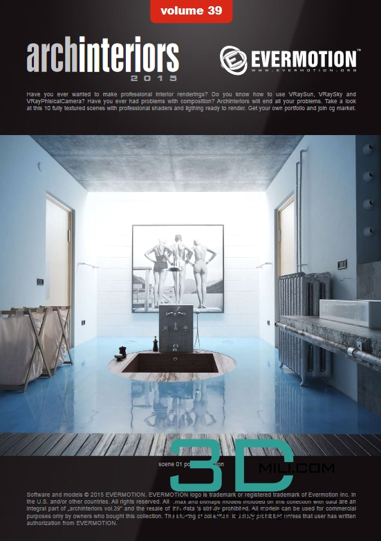 Evermotion Archinteriors Volume 39: Modern bathrooms - 3D