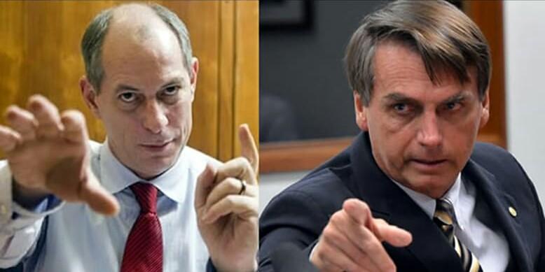 Facada leva Bolsonaro a 30%, segundo BTG Pactual; Ciro Gomes assume o 2º lugar, ciro e Bolsonaro