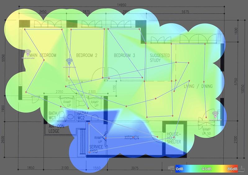 Velop (Dual-Band) - 5.0GHz - Heatmap