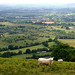 Castlemorton Common from the Herefordshire Beacon, the Malvern Hills Worcestershire
