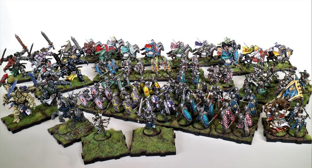 Runewars Miniatures Full Daqan Army Colors Displayed