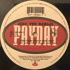 JERU THE DAMAJA:COME CLEAN(LABEL SIDE-B)