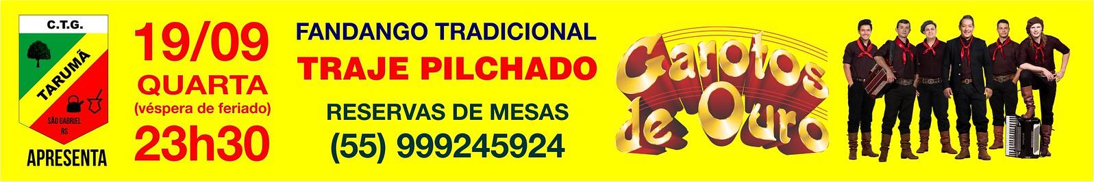 Anúncio Fandango CTG Tarumã - Garotos de Ouro