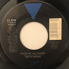 PRETTY POISON:CATCH ME (I'M FALLING)(LABEL SIDE-A)