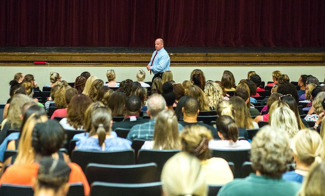 Dr. Ray Carr, former FBI agent and Director of the WilmU Criminal Justice Institute, presented active shooter training to the entire faculty and staff of the Brandywine School District in August, at the start of the school year.