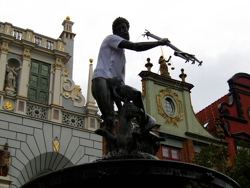 Neptune Fountain on the Long Market in Gdansk