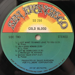 COLD BLOOD:COLD BLOOD(LABEL SIDE-B)