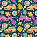 """vannina_sf posted a photo:""""Psychedelic Deuche"""" is my Spoonflower 1960s contest entry this week.""""Deuche"""" is the french nickname of the """"Deux Chevaux"""" which was a very popular automobile in the sixties. The Citroen 2CV was my mother's first car in 1968 ;-) www.spoonflower.com/designs/7918646-psychedelic-deuche-by..."""