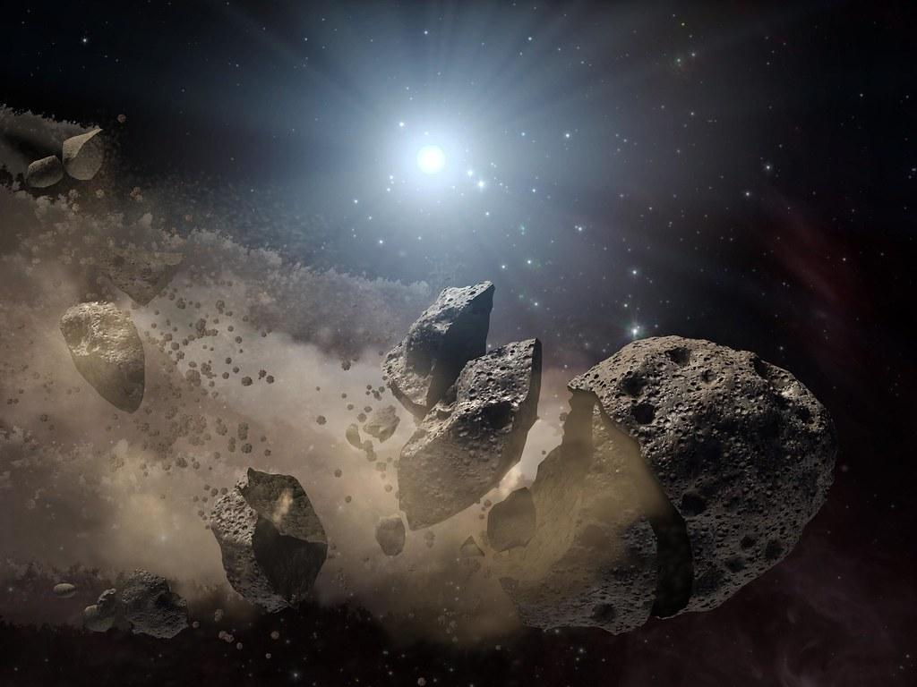 художественное изображение метеорита
