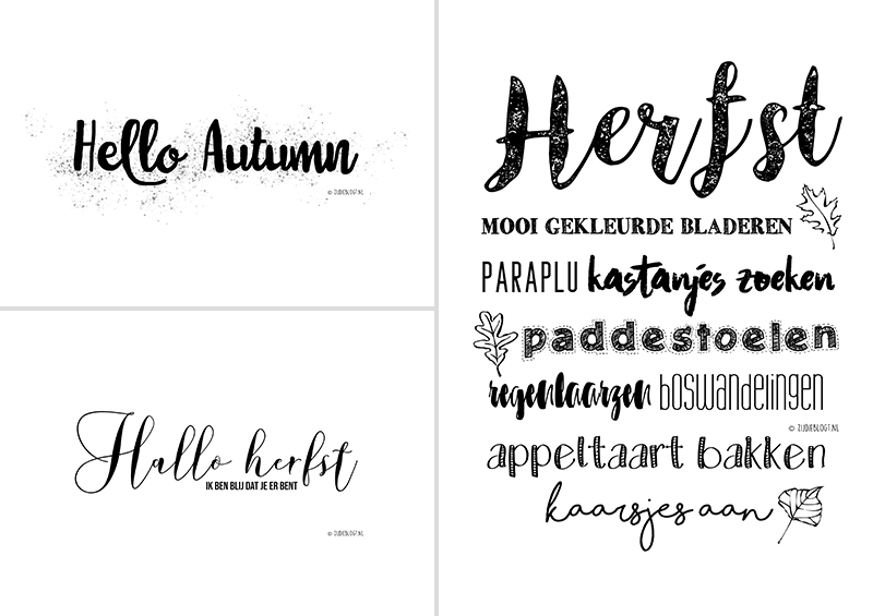 Gratis download: Hello autumn! 3 herfst posters