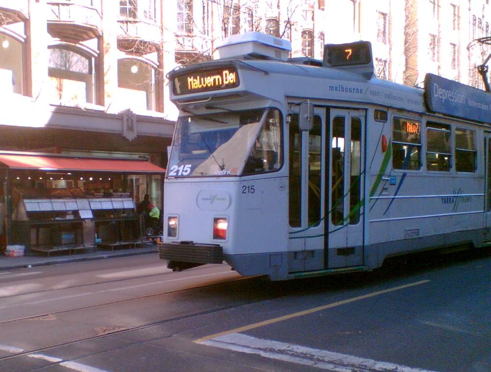 Tram route 7 in Swanston Street