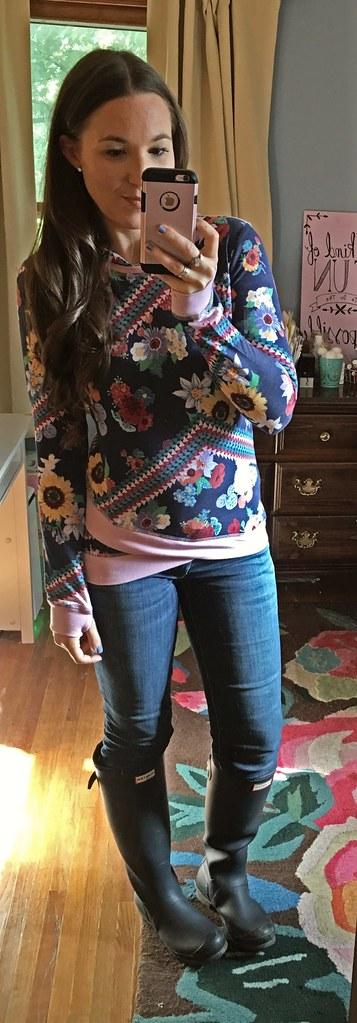 matilda jane tween floral hoodie