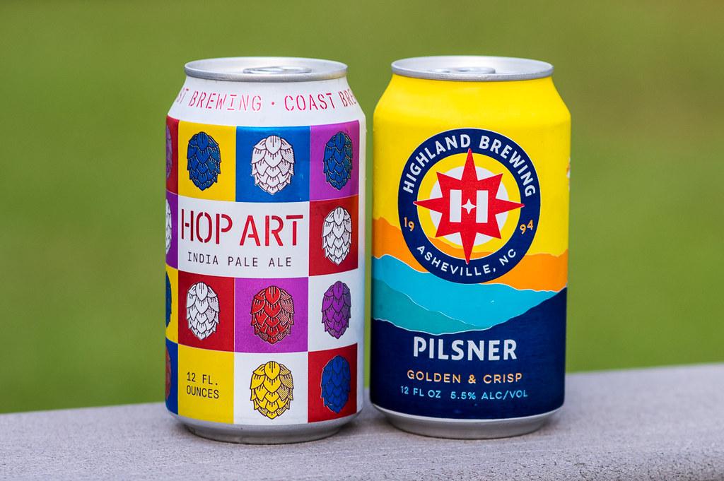 Hop Art IPA and Highland Brewing's Pilsner