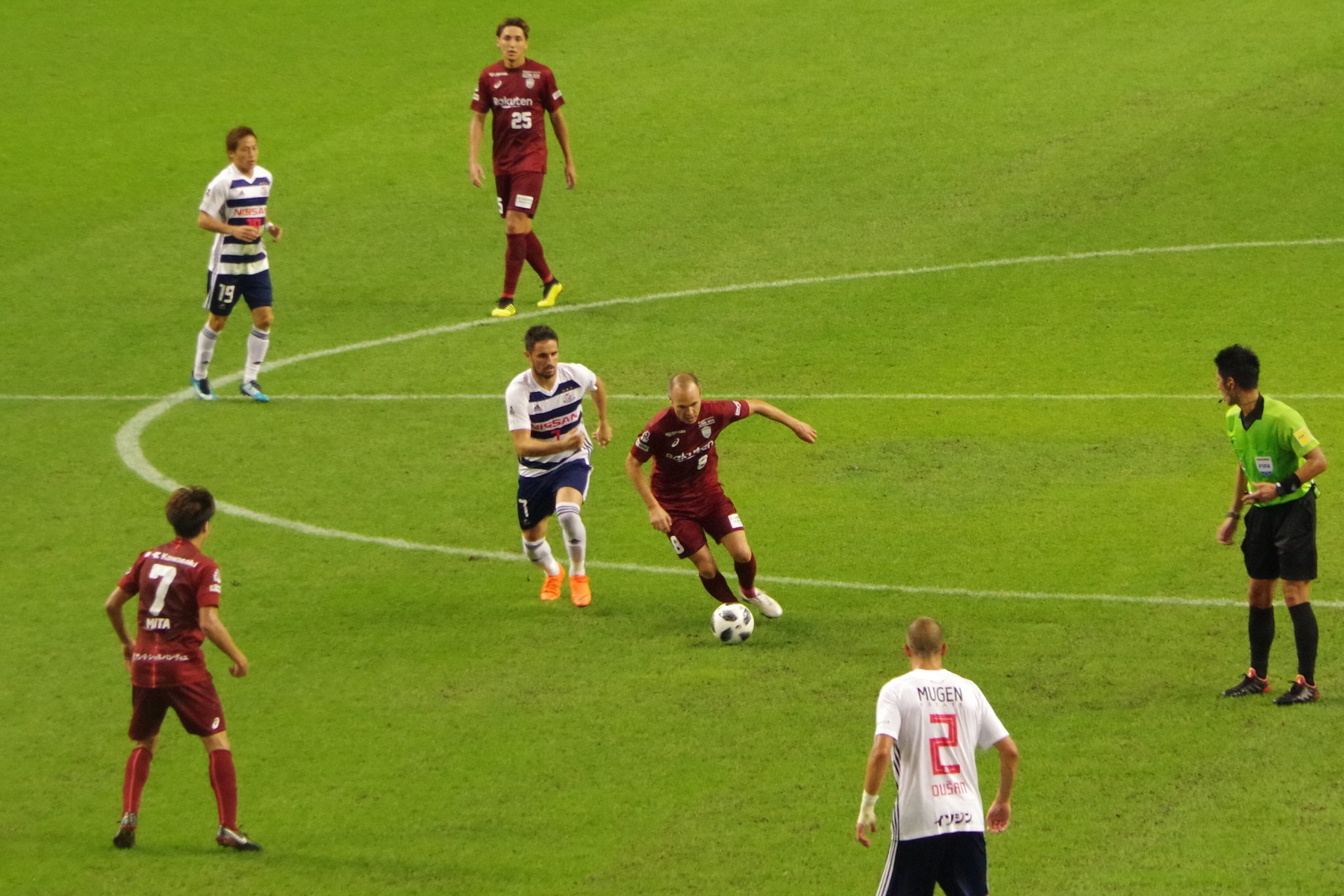 Iniesta's fierce attack