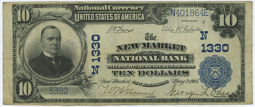 National Bank Note NH-NewMarket-1330-02PB-10