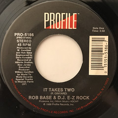 ROB BASE & D.J. E-Z ROCK:IT TAKES TWO(LABEL SIDE-A)