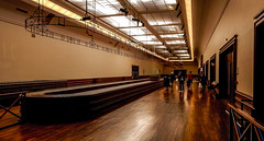 The luggage hall