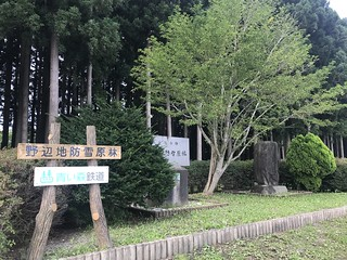日本最古の鉄道防雪林 野辺地駅