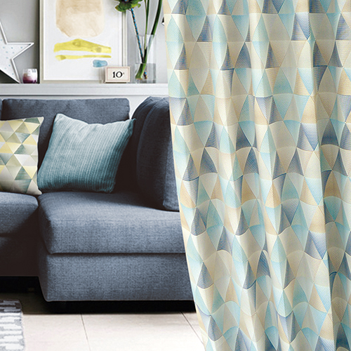幻象幾何(獨家) 稜格紋 萬花筒 防光(遮光)窗簾布 DA1390043