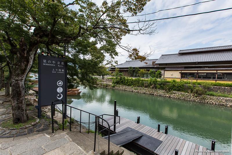 Embarcadero del espectacular Hoshinoya en Arashiyama