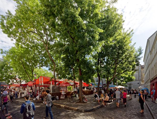 Place du Tertre, Nikon D5000, Sigma 8-16mm F4.5-5.6 DC HSM