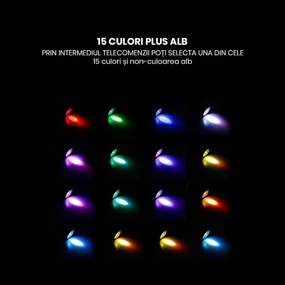 Spot LED RGB cu telecomanda 5W 85-265V GU10 si GU5.3