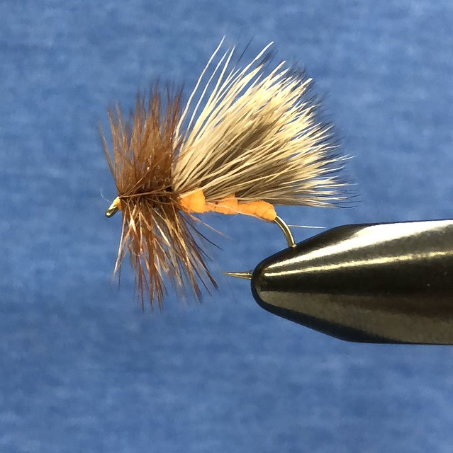 Hi tie October caddis