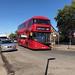 London Sovereign, Harrow, Volvo VHR45208 LJ66EZU on Route 183 from Pinner to Golders Green in Wilberforce Road, West Hendon on Thursday 13 September 2018