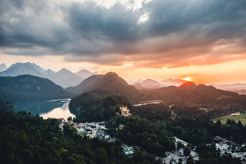 Sunset at castle Hohenschwangau from Toni Hoffmann