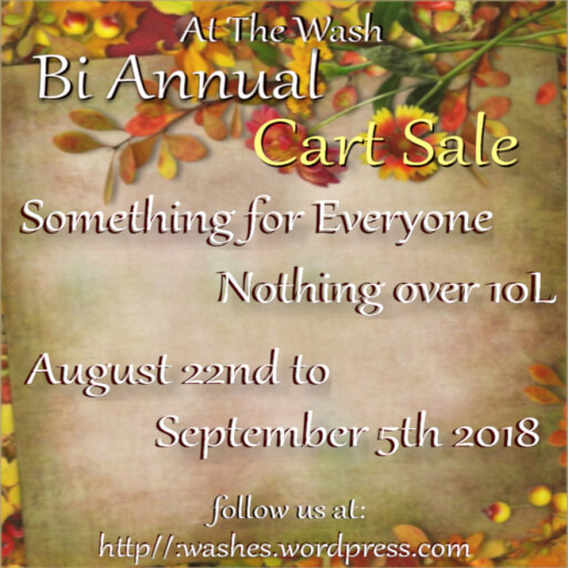 bi annual cart sale poster Aug 2018