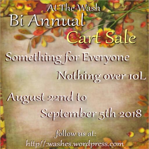 bi annual cart sale poster Aug 2018