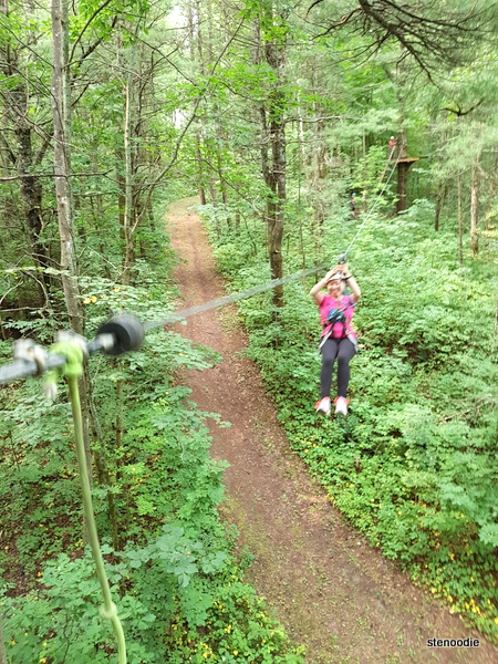 Treetop trekking Ganaraska zip line