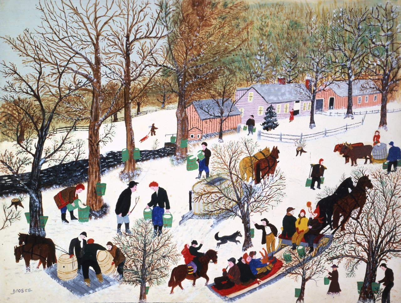 Grandma Moses – A Stamp A Day