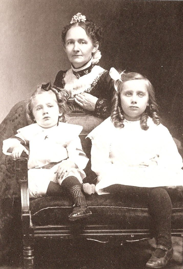Anna Mary Robertson Moses with two of her children - estimate between 1890 and 1910