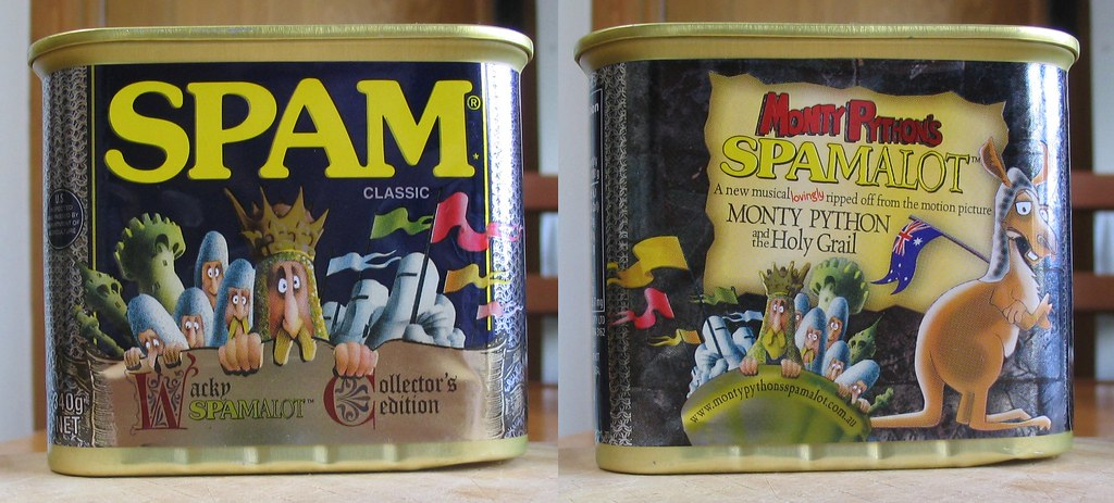 Spamalot spam can, August 2008