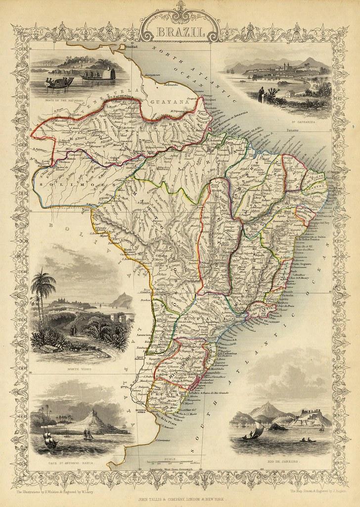 John Tallis - Brazil (1851)