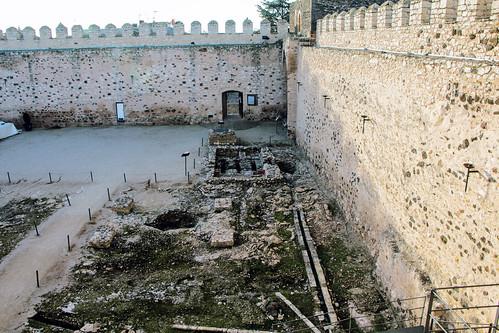 baños arabes interior Castillo Doña Berenguela Bolaños de Calatrava Ciudad Real