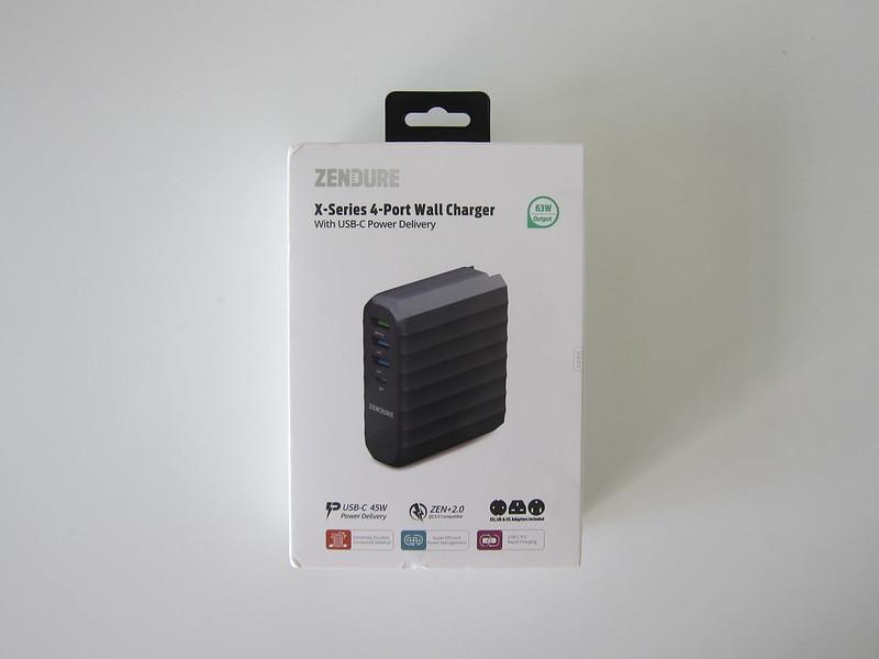 Zendure 63W USB-C PD Charger - Box Front