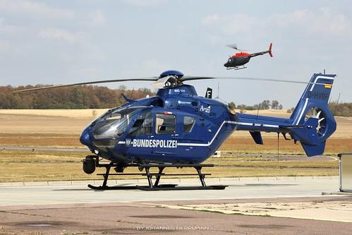 Bundespolizei EC135 D-HVBF @ Halle-Oppin