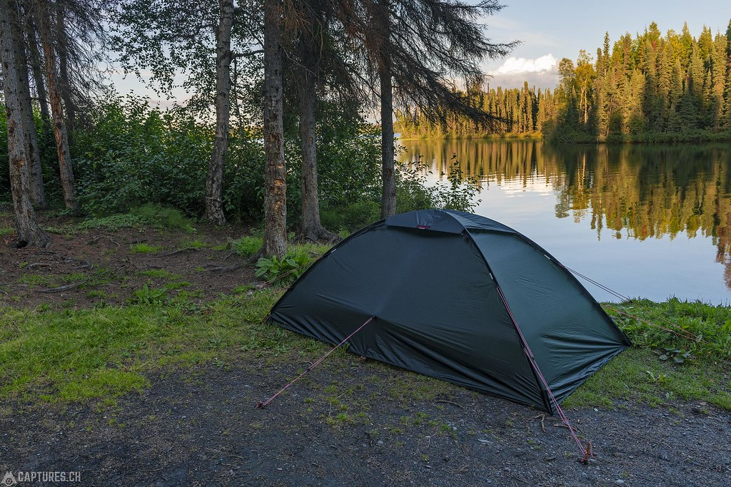 Camping at the lake - Alaska