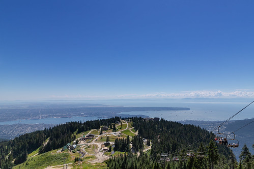 Grouse Mountain peak of Vancouver