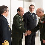 Thu, 09/20/2018 - 13:30 - On Thursday, September 20, 2018, the William J. Perry Center for Hemispheric Defense Studies honored General Salvador Cienfuegos Zepeda, Secretary of National Defense of Mexico, and Escola Superior de Guerra (ESG), National War College of Brazil, with the 2018 William J. Perry Award for Excellence in Security and Defense Education. Named after the Center's founder, former U.S. Secretary of Defense Dr. William J. Perry, the Perry Award is presented annually to individuals who and institutions that have made significant contributions in the fields of security and defense education. From the many nominations received, awardees are selected for achievements in promoting education, research, and knowledge-sharing in defense and security issues in the Western Hemisphere. Awardees' contributions to their respective fields further democratic security and defense in the Americas and, in so doing, embody the highest ideals of the Center and the values embodied by the Perry Award.