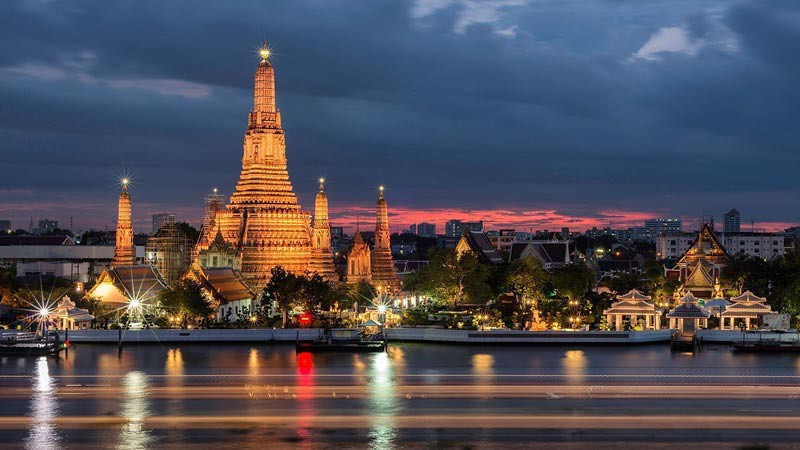 Wat Arun (Vihara Arun), Bangkok, Thailand.