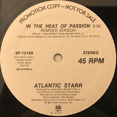 ATLANTIC STARR:IN THE HEAT OF PASSION(LABEL SIDE-A)